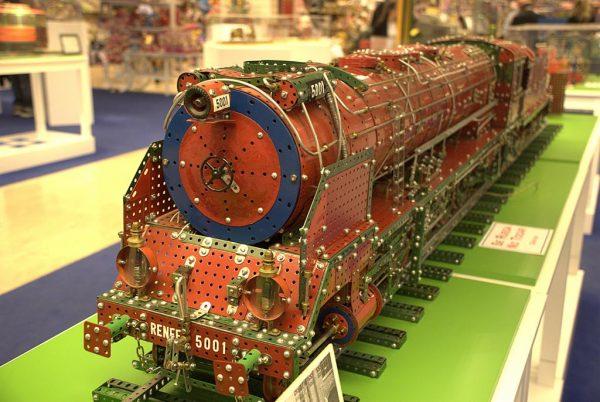 Meccano train for children's development
