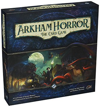 arkham horror the card game box, a game perfect for two players