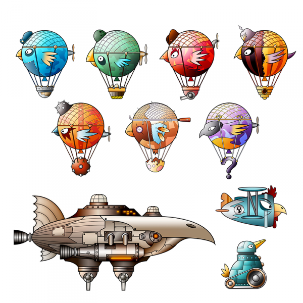 Battlebirds characters created by Lyall McCarthy - Beasts of Balance artist