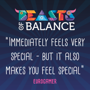 """Immediately feels very special"" - Eurogamer Beasts of Balance stacking game review"