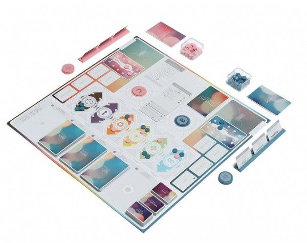 fog of love board game laid out in full