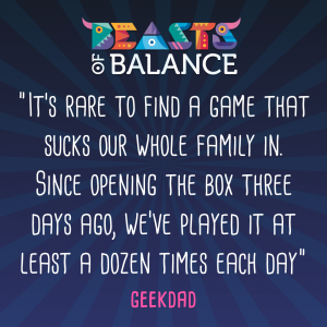 """A game that sucks our whole family in"" Geekdad Beasts of Balance stacking game review"