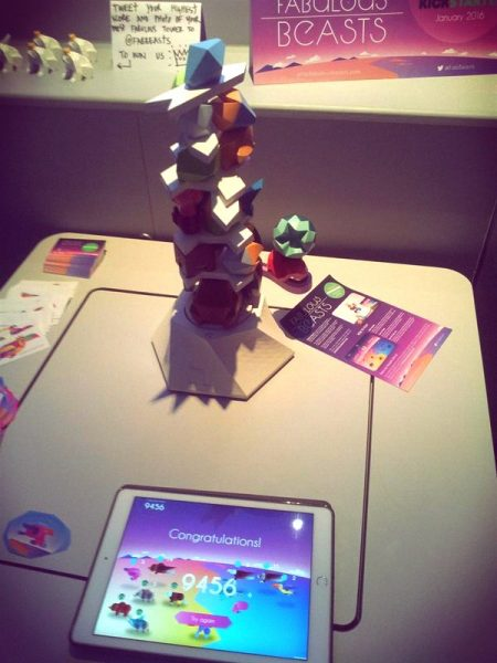 This great Beasts of Balance tower scored a whopping 9456 points at Gamecity!