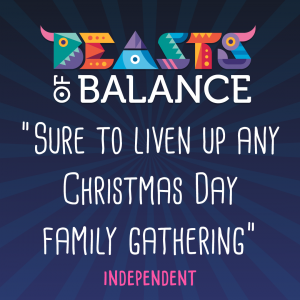 """Sure to liven up any Christmas Day family gathering"" Independent Beasts of Balance stacking game review"