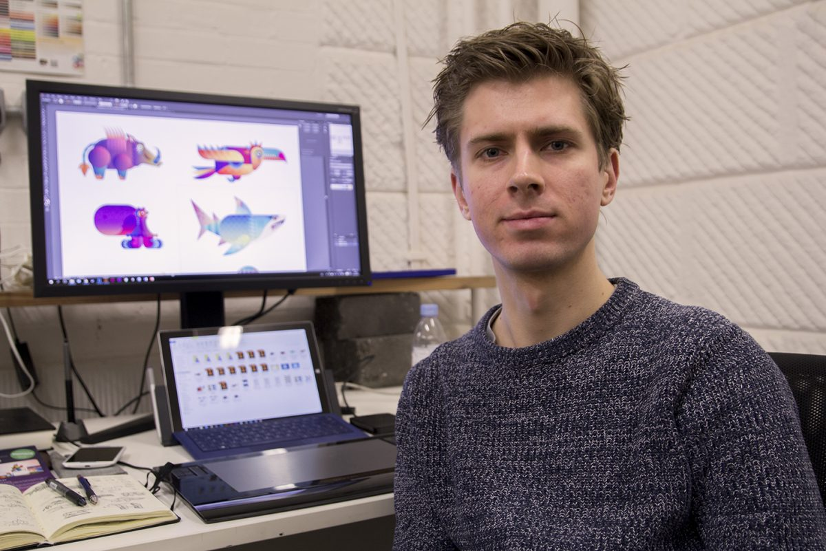Lyall McCarthy is responsible for Beasts of Balance's 2D art and user interface design