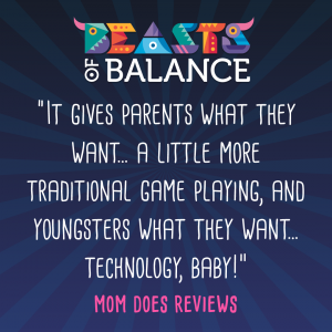 """It gives youngsters what they want; technology!"" Mom Does Reviews Beasts of Balance stacking game review"
