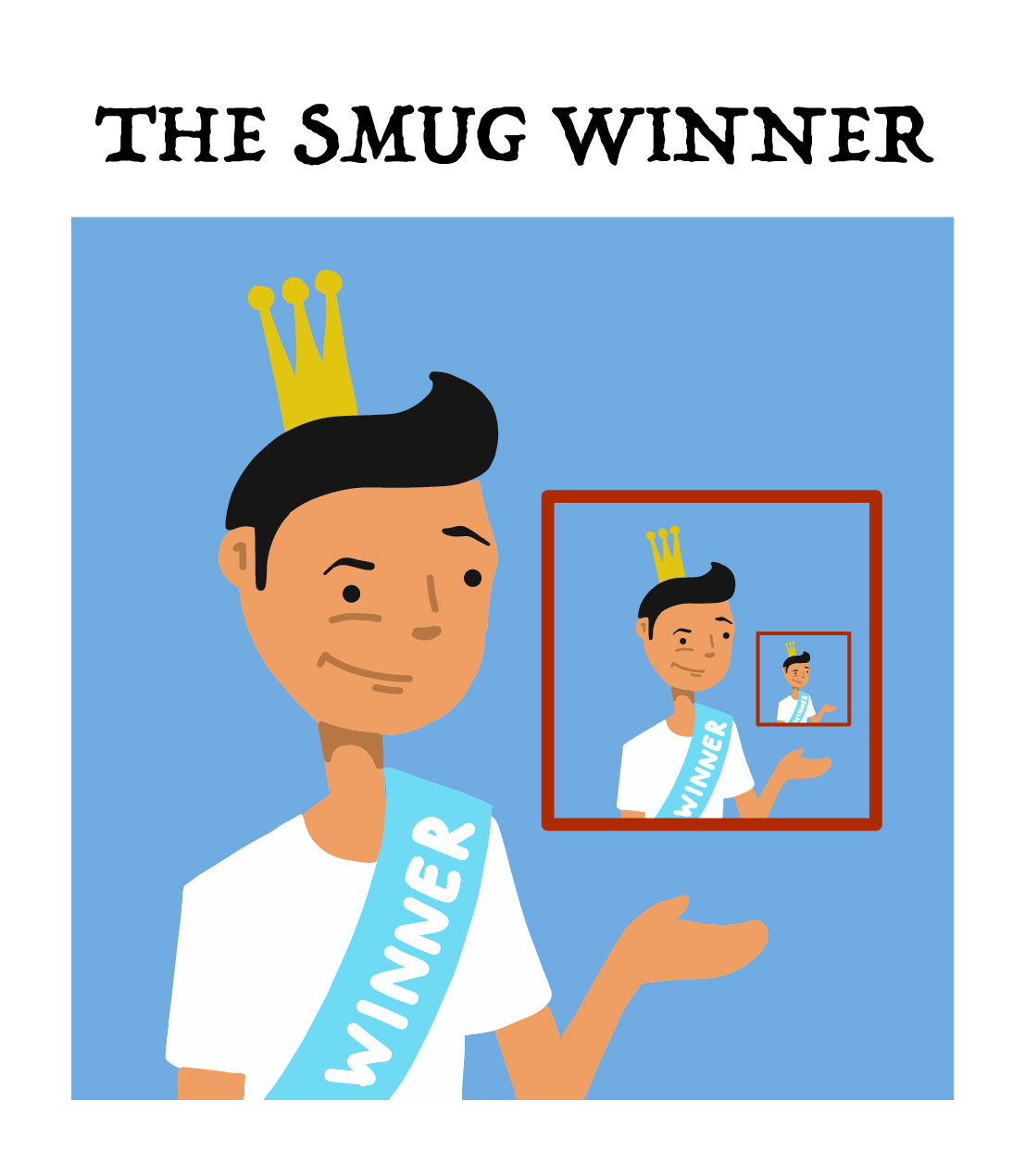the smug winner, type five of the board game players