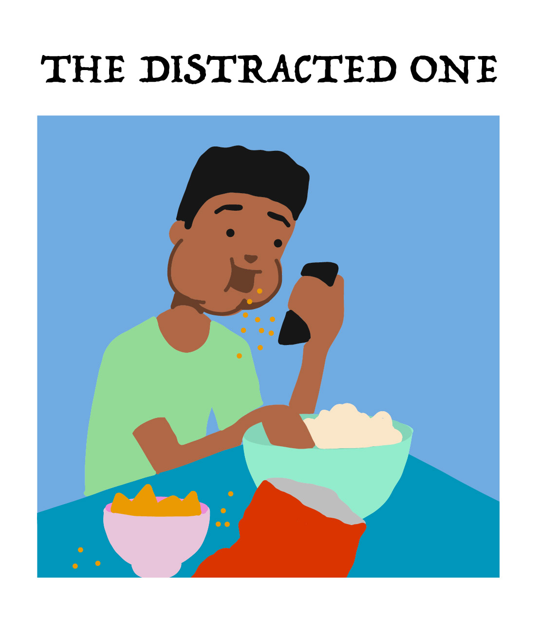 the distracted one, type 7 of the board game player types