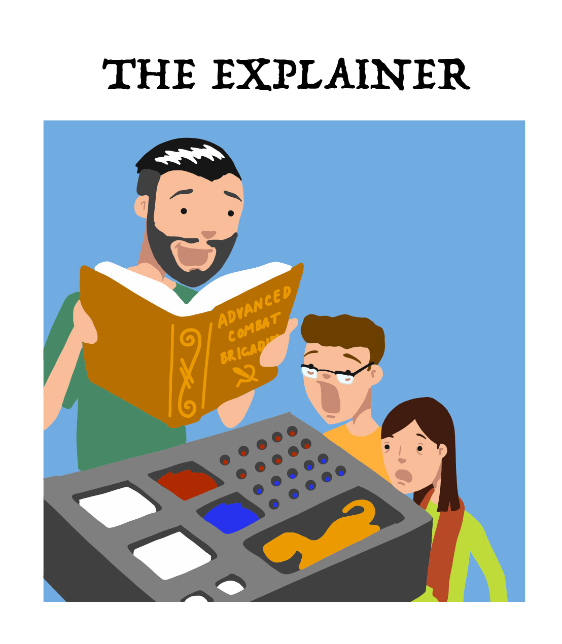 the explainer, type 9 of the board game player types