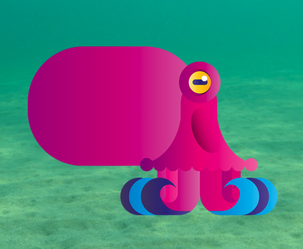 Digital octopus from the Beasts of Balance stacking game