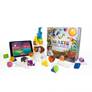 The full Beasts of Balance stacking game containing the box, game pieces and application