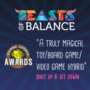 """A truly magical toy/board/game/video-game hybrid"" Shut Up & Sit Down Beasts of Balance stacking game review"