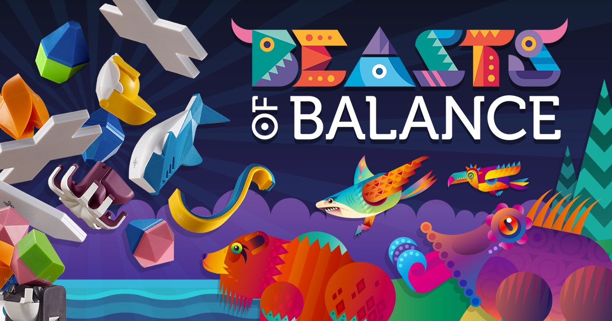 Beasts of Balance: play a hybrid digital tabletop stacking game that