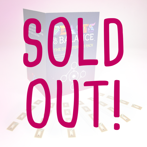 The Beasts of Balance stacking game DIY Artefacts pack is sold out!