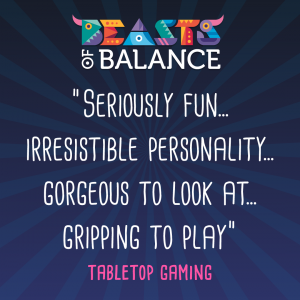 """Gorgeous to look at, gripping to play"" Tabletop Gaming Beasts of Balance stacking game review"
