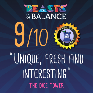 """Unique, Fresh and Interesting"" - The Dice Tower Beasts of Balance stacking game review"