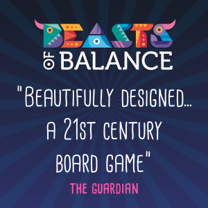 """Beautifully designed...a 21st Century Board Game"" - The Guardian Beasts of Balance stacking game review"
