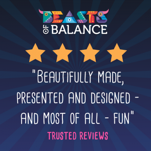 """Beautifully made, presented and designed and fun"" Trusted Reviews Beasts of Balance stacking game review"
