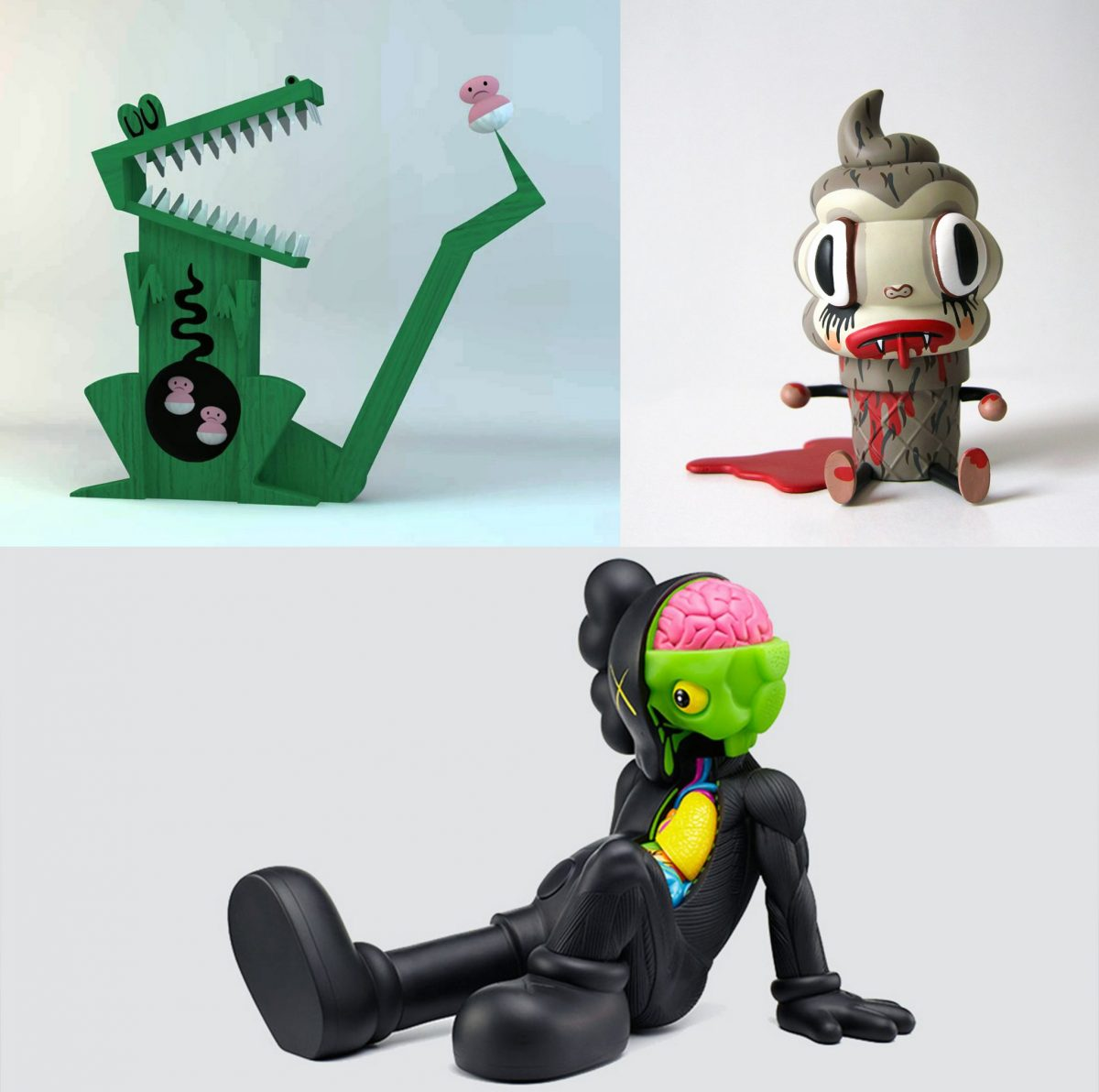 vinyl figurines provided an inspiration for the Beasts of Balance stacking game pieces