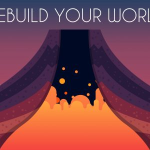 If your Beasts of Balance tower collapses, rebuild it before the volcano erupts!